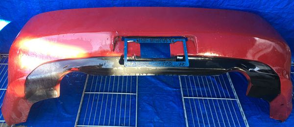 2003 - 2007 INFINITI G35 COUPE REAR BUMPER COVER RED