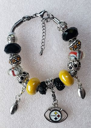 Pittsburgh Steelers charm bracelet 1@ $20 or 2@ $30 for Sale in Baltimore, MD
