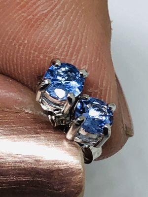 925 Genuine Tanzanite Stud Earrings for Sale in Shelton, CT