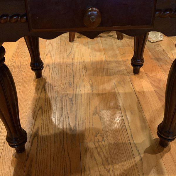 Old Brown Lamp Tables