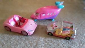 Shopkins plane, barbie car and Fisher price van, good condition for Sale in Largo, FL