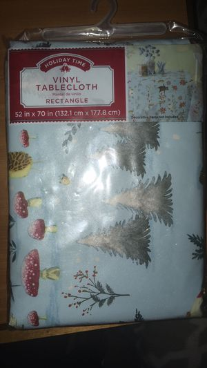 Christmas Tablecloth 52in x 70 in (132.1cm x 177.8 cm) for Sale in Bowie, MD