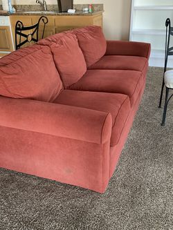 Lazy Boy Couch, Chair, Ottomans, Orange Target Chair. for Sale in Paradise Valley,  AZ