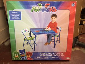 PJ Mask Folding Table and 2 Padded Chair set for Sale in Junction City, AR