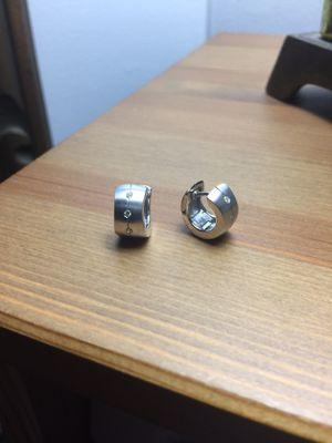 14kt Hoop Earrings with Diamonds for Sale in Alexandria, VA