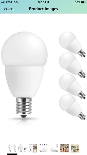 E17 LED Bulb, JandCase 5W Light Bulbs, 5000k Soft White, 550LM, 50W Equivalent Bulbs for Home Lighting, Ceiling Fan, Living Room, E17 Intermediate B for Sale in Las Vegas, NV