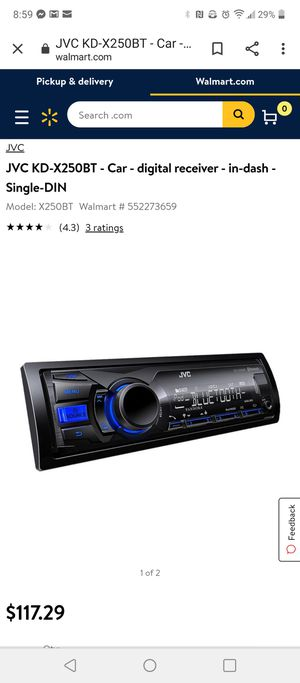 Jvc Bluetooth car stereo. Works great kd-x250bt for Sale in Vancouver, WA