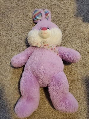 "Large 30"" Plush Purple pink Rabbit Easter Bunny stuffed animal rainbow feet ear for Sale in Jacksonville, FL"
