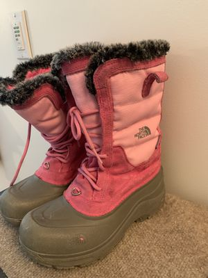 The North Face - Youth Girls Sz 5 Lace Winter Snow Boots Heat Seeker for Sale in Cranston, RI