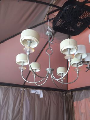 Hanging Brush Nickel Stainless 6 Light Chandelier for Sale in Lake Shore, MD