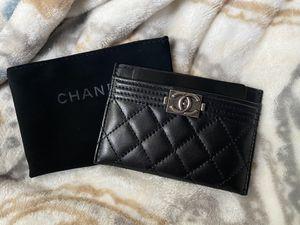 Chanel Boy Lambskin Card Holder Wallet for Sale in Riverside, CA