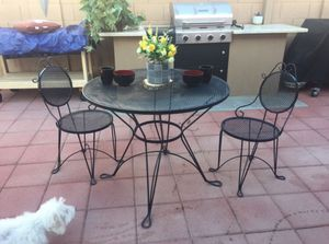 Wrought Iron Black Patio Table for Sale in Phoenix, AZ