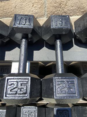 25lb dumbbells for Sale in Corona, CA