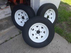 3 Goodyear Marathon trailer tires and wheels for Sale in New Port Richey, FL