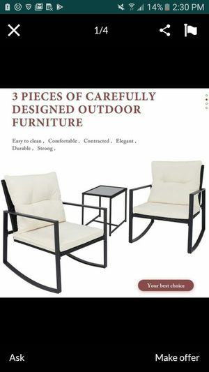 Wicker 3 pieces outdoor patio furniture patio set for Sale in March Air Reserve Base, CA