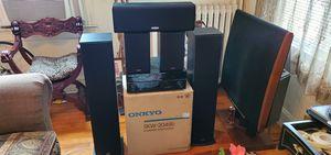2 Polk T50, 2 Polk T15. Polk CS10 center channel, Onkyo SKW-204 B Sub, Pioneer VSX 1019 Receiver for Sale in Washington, DC