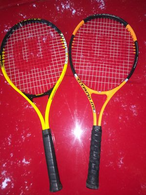 Wilson titanium 3 tennis rackets 2 rackets for 15 for Sale in Roy, WA