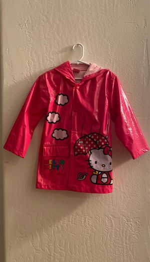 Hello Kitty girl's Raincoat with hoodie size 5 for Sale in Scottsdale, AZ