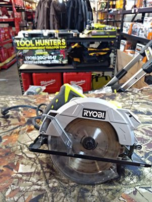 """USED BUT WORKS GREAT!! RYOBI 7-1/4"""" CIRCULAR SAW WITH BLADE AND LASER !! 15 AMP POWER ! 5,200 RPM !! ONLY $25 FIRM !! for Sale in San Bernardino, CA"""