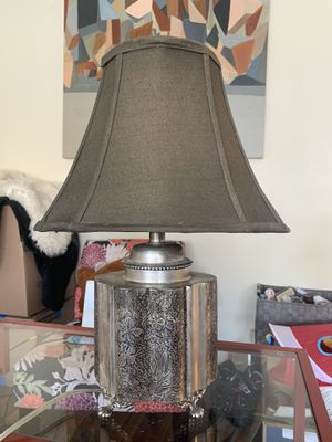 Antique Etched Metal Lamp for Sale in Los Angeles, CA