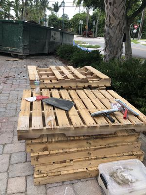 Free pallets (tools not included) for Sale in Dania Beach, FL