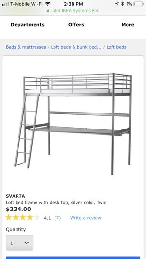 Bunk bed with desk included for Sale in Quincy, MA
