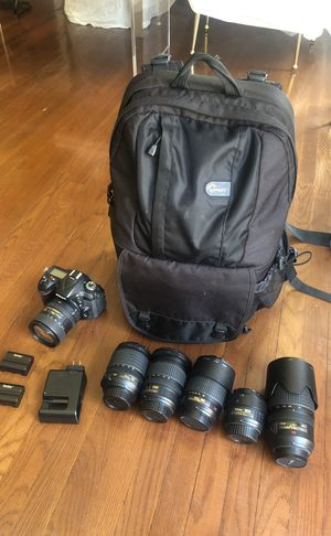 Nikon bundle: Nikon d7100, 7 lenses, Lowepro backpack, Lee Filter big stopper, + extra batteries for Sale in West Hollywood, CA