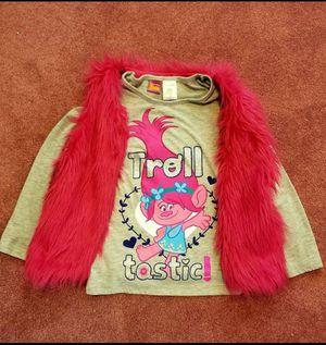 "Girls ""Trolls"" Long Sleeved Shirt with Vest! Size Medium for Sale in Garden City, MI"