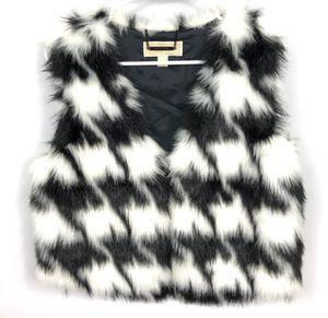 Michael Kors Houndstooth Faux Fur Vest for Sale in Bentonville, AR
