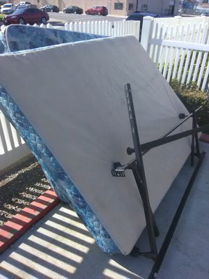 bed box and top matress full size and frames good shape for Sale in Bakersfield, CA