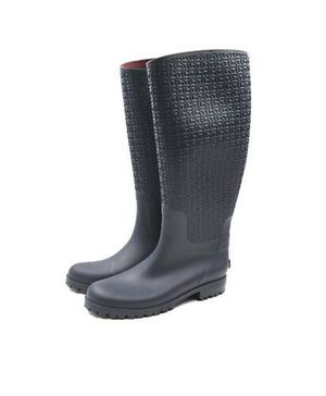 Tommy Hilfiger Women's Tall Rubber Monogram Textured Rain Boots Waterproof for Sale in Knoxville, TN
