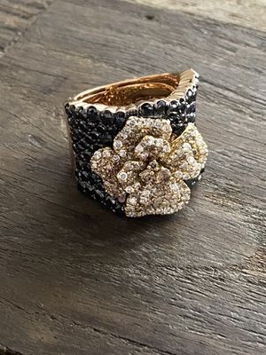 5.89 ct Italian Floral Pattern Designer Diamond Ring in 18k Rose Gold - STUNNING for Sale in Tacoma, WA