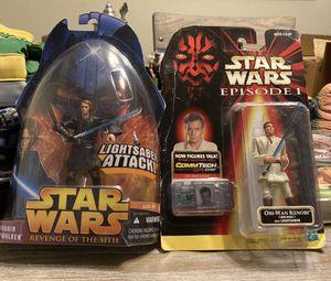 Obi-Wan Kenobi & Anakin Skywalker Star Wars action figures! for Sale in Vancouver, WA