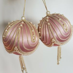 Pair Of Antique Satin Ornaments for Sale in Plainfield, IL