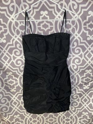 Max and Cleo Black Mini Formal Prom Dress Size 2 Ruffle Kawaii for Sale in Lake Forest, CA