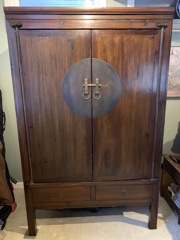 Vintage Chinese armoire/wedding cabinet