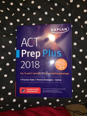 Kaplan ACT Prep Plus 2018 for Sale in Phoenix, AZ