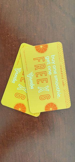 Jamba Juice Fundraiser Card for Sale in San Bruno, CA