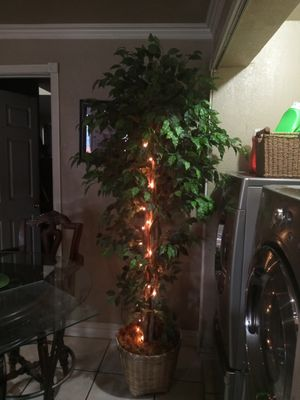 Artificial 7 ft tree with lights for Sale in San Bernardino, CA