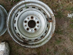 Old school rally rims Chevy rims for Sale in Merrifield, MN