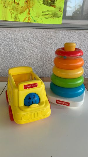 Fisher Price Rainbow Stacker & School Bus Toys for Sale in Chino Hills, CA
