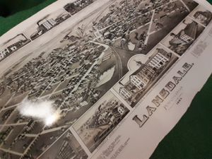 Drawing of Lansdale PA 1885 for Sale in Upper Gwynedd, PA