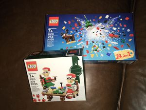 Christmas LEGO sell....100% Brand New Factory Sealed Authentic LEGO - sell is for both LEGO items shown for Sale in Abilene, TX