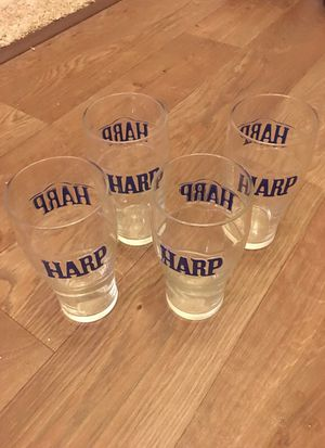 4 Harp / Guinness pint glasses collectible for Sale in Mehlville, MO