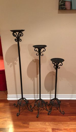 Decorative iron candle holders for Sale in Chino Hills, CA
