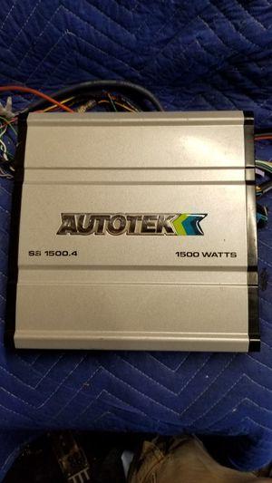 AMP AUTOTEK 4 CHANNELS 1500 WATTS for Sale in Dallas, TX