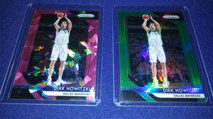 2 Dirk Nowitzki green and pink refractors $5 takes both for Sale in Garland, TX