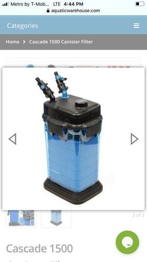 Cascade 1500 Canister Filter Aquarium fish tank for Sale in Miami, FL