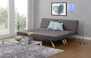 Linen sofa bed + chaise lounger set for Sale for sale  NJ, US