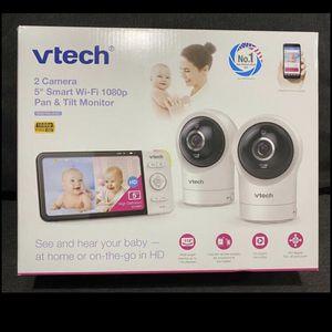 "Vtech 2 camera 5"" Smart Wi-Fi Pan & Tilt Baby Monitor for Sale in Fairfax, VA"